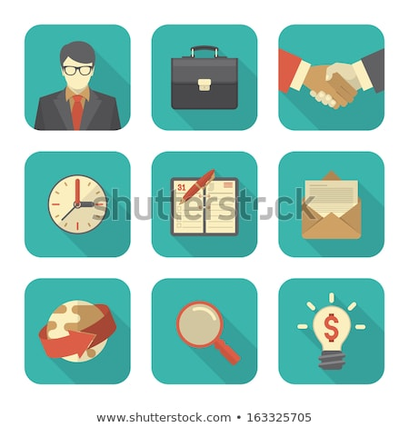 Modern flat stylized business icons stock photo © vectorikart