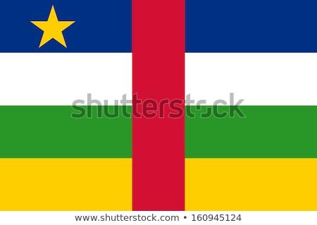 Centraal afrikaanse republiek vlag web design stijl Stockfoto © speedfighter