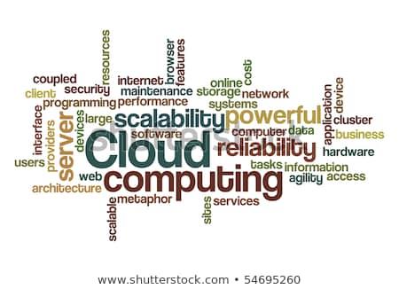 Kelime bulutu kullanıcı arayüz endüstriyel yazılım kontrol Stok fotoğraf © master_art