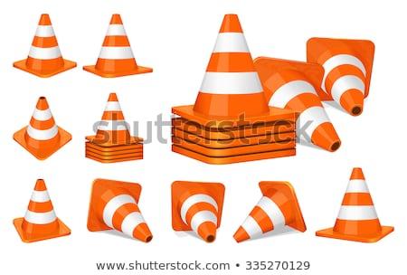 verkeer · 3d · mensen · man · persoon · oranje · helpen - stockfoto © sdmix