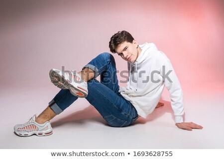 jeans · jas · textuur · ontwerp · stedelijke - stockfoto © feedough