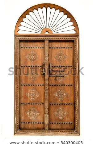 Arab ajtó részlet város Marokkó fém Stock fotó © tony4urban
