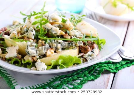 Márványsajt saláta közelkép friss Stock fotó © fatalsweets