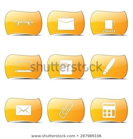 Kantoorwerk Geel vector ontwerp ingesteld internet Stockfoto © rizwanali3d