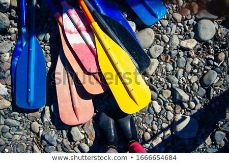 байдарках · цветами · красочный · цвета · берега - Сток-фото © jeffmcgraw