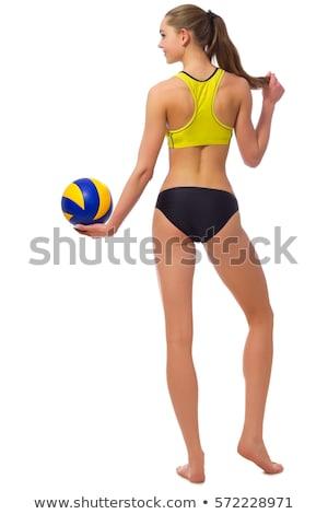 Gesäß bikini weiß schöne Frau sexy Stock foto © ssuaphoto