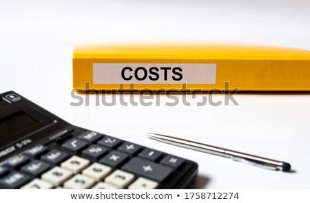 costo · parola · cartella · carta · messa · a · fuoco · selettiva · informazioni - foto d'archivio © tashatuvango