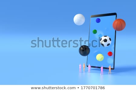 Bowling on Smartphone, Sports App Stock photo © make