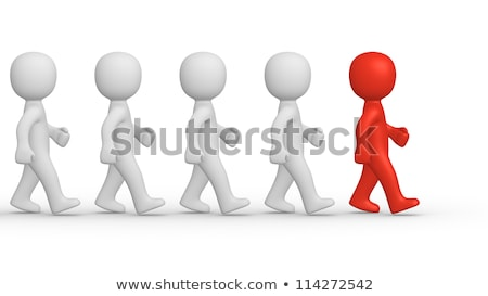 3d men marching concept Stock photo © nithin_abraham