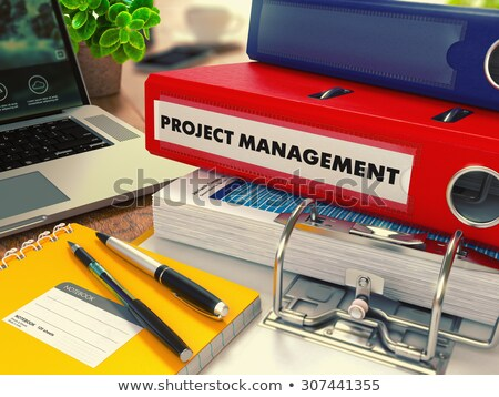 red office folder with inscription project management stock photo © tashatuvango