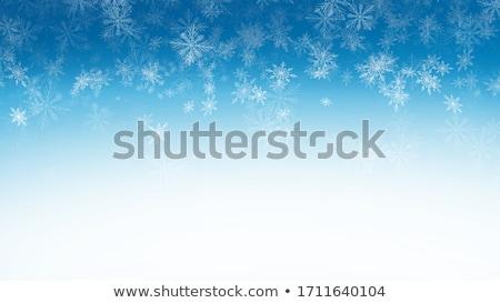 ストックフォト: 雪 · 青 · デザイン · 雪 · 背景 · シルエット