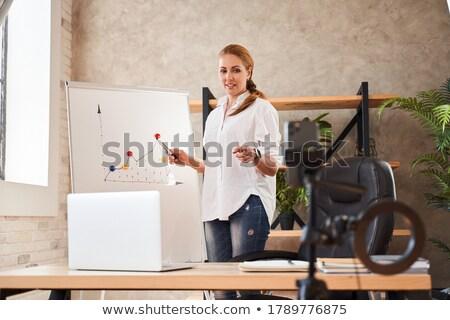 Stock photo: Office Whiteboard on Tripod