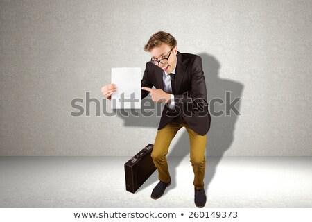 молодые · бизнесмен · страница · серый · стороны - Сток-фото © wavebreak_media