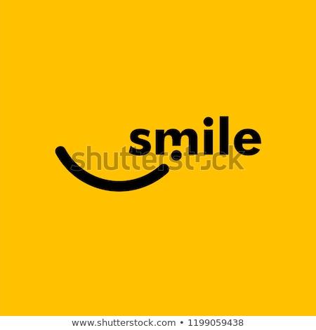 abstract logo smile stock photo © netkov1