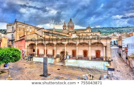 Cityscape sicília Itália basílica centro igreja Foto stock © Photooiasson