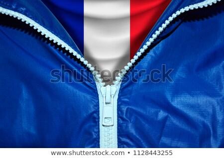 Franciaország zászló cipzár kék terv űr Stock fotó © fuzzbones0