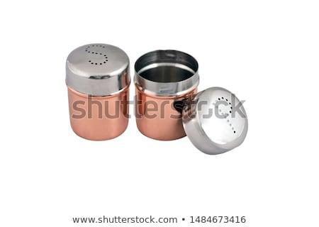 zout · peper · witte · zilver · voedsel · metaal - stockfoto © ozaiachin