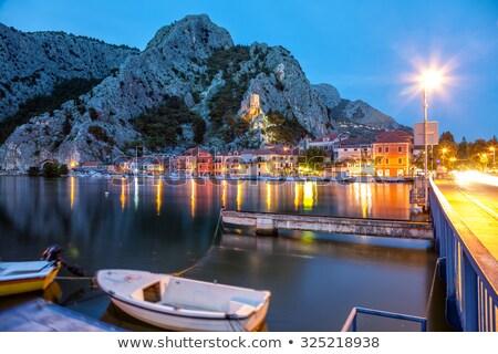 Velho cidade Croácia noite céu Foto stock © tommyandone