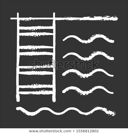 úszómedence létra ikon rajzolt kréta kézzel rajzolt Stock fotó © RAStudio