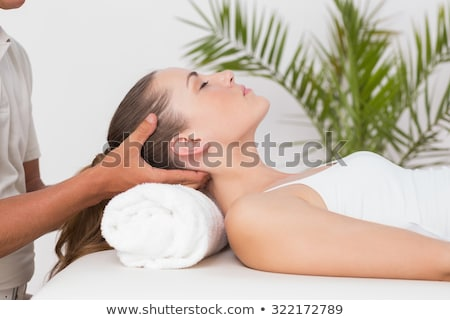 man receiving neck massage stock photo © wavebreak_media