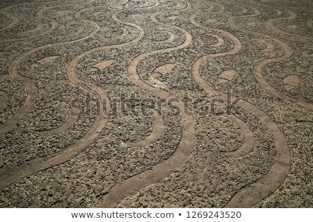rolling stones mosaic medieval soil floor Spain Stock photo © lunamarina