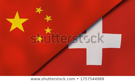 Швейцария Китай флагами головоломки изолированный белый Сток-фото © Istanbul2009