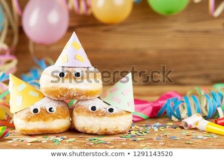 вечеринка украшение конфетти кремом Сток-фото © AndreyCherkasov
