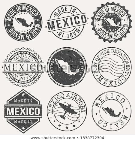 Mexikó vidék zászló térkép forma szöveg Stock fotó © tony4urban