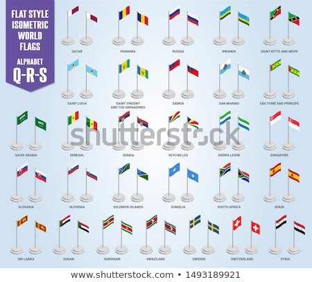 personas · bandera · Sudáfrica · aislado · blanco · reunión - foto stock © istanbul2009