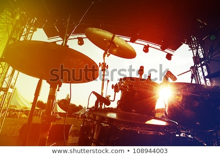 Музыканты · играть · этап · барабанщик · передний · план · музыку - Сток-фото © anna_om