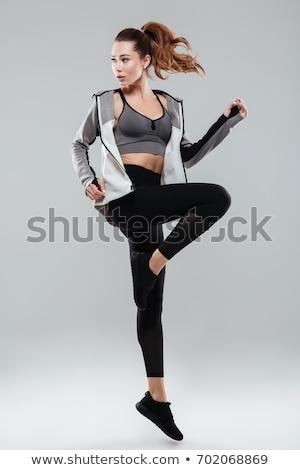 sport · lány · test · fitnessz · lányok · testmozgás - stock fotó © Paha_L