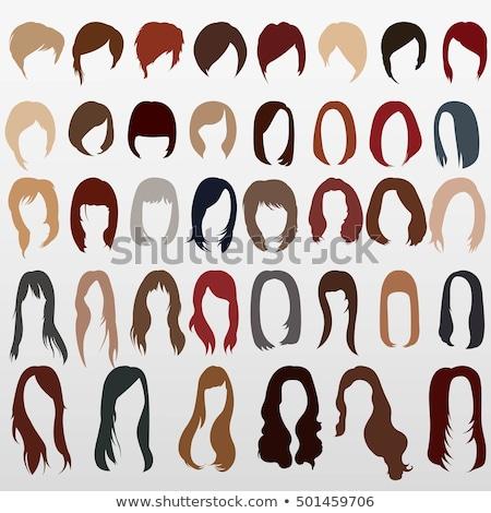 Woman grey hair styles, wigs icons Stock photo © RedKoala