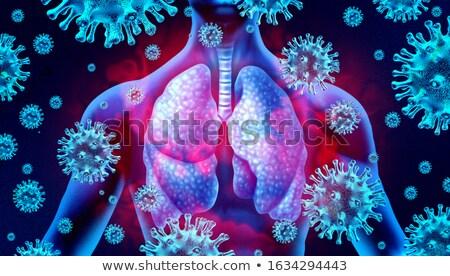 sida · médico · azul · imune · síndrome · turva - foto stock © tashatuvango
