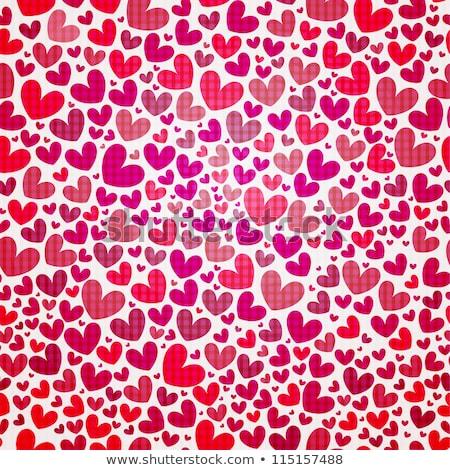 Papel de embrulho dia dos namorados forma de coração sem costura ilustração vetor Foto stock © orensila