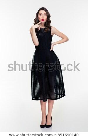 Rood · zwart · haar · geïsoleerd · witte · mode - stockfoto © deandrobot