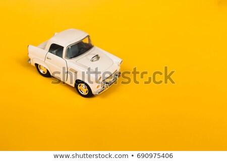 Oldtimer speelgoed oude auto communist tijdperk retro Stockfoto © tony4urban