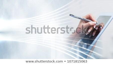 összetett kép kéz stylus ünnepek előre bejelentkezés Stock fotó © wavebreak_media
