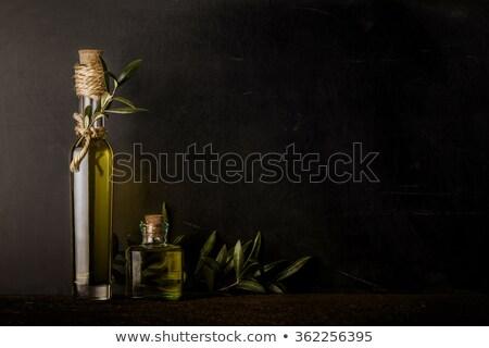 Extra olijfolie twee glas teken industrie Stockfoto © marimorena