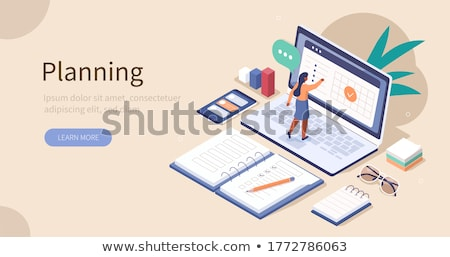 Personal Organizer vector illustration Stock photo © ayaxmr