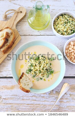 Topo ver feijão cevada pão sopa Foto stock © ozgur