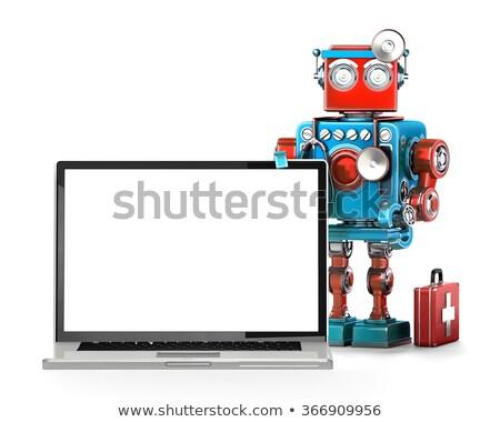Komputera utrzymanie odizolowany biały medycznych Zdjęcia stock © Kirill_M