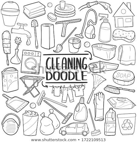 Doodle vector set of cleanup stock photo © netkov1