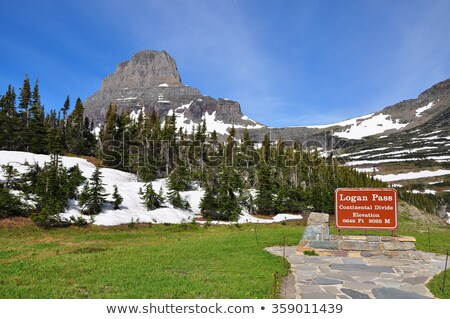 Clements Mountain – Glacier National Park Stock photo © Pegasi8Imagery