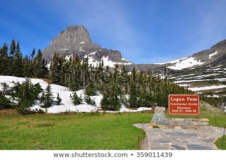 hegy · gleccser · park · passz · USA · rejtett - stock fotó © Pegasi8Imagery