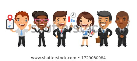 Bodyguards Team People Group Flat Style Stock photo © robuart