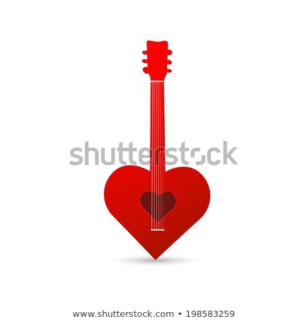Guitarra vermelho corações televisão projeto rocha Foto stock © shawlinmohd
