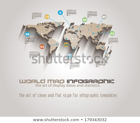 World map template for your infographics reports Stock photo © orson