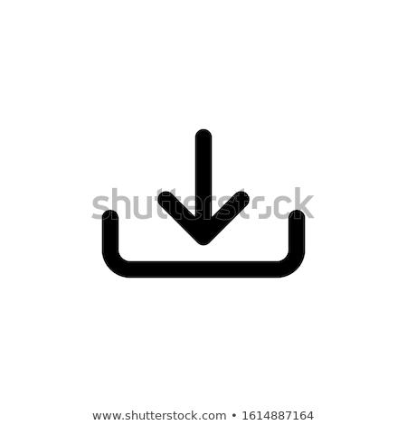 simgesi · indir · düğme · yük · simge · dizayn - stok fotoğraf © marysan