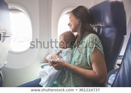 レトロな · 幸せな母の日 · セット · カード · ヴィンテージ · タイプ - ストックフォト © limbi007
