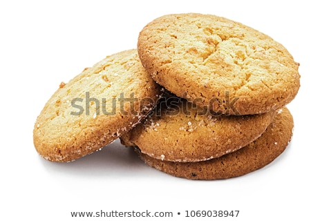 Knapperig bruin cookie witte chocolade achtergrond Stockfoto © bluering